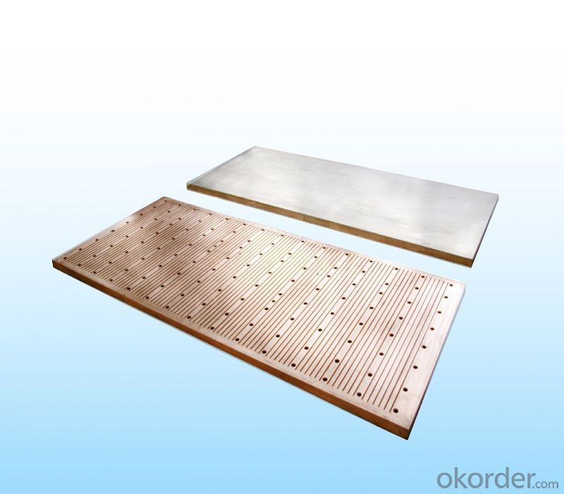 Ultra-thin slab copper mould plate used on continuous casting machine