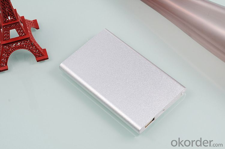 Aluminium Ultra-thin power bank 4000mAh for Portable Mobile powerbank Lithium-Polymer charger