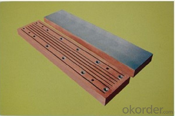 Thin slab copper mould plate used on continuous casting machine