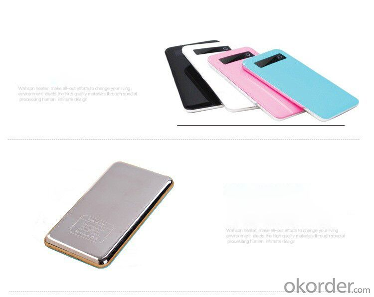 Power Bank Ultra-thin mobile for smart phone or tablet 5000mAh Lithium polymer
