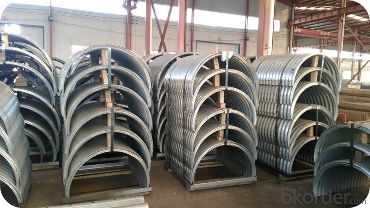 CE Certificated Large Corrugated Galvanized Steel Pipe Culvert used in Road Culvert
