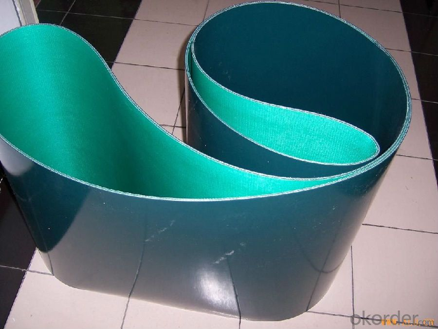 Blue Diamond PVC/PU Conveyor Belt in Food Industry