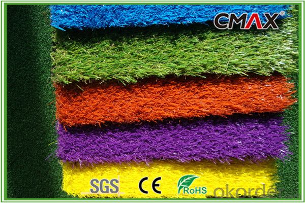 Red Running Track Artificial Grass for Kindergarten with Different Color