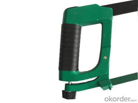 Square tubular aluminum handle heavy-duty hacksaw frame
