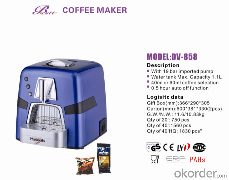 Espresso  coffee machine for Lavazza DV-858