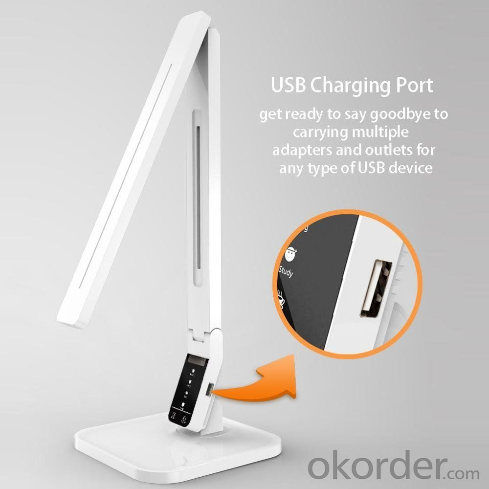 DC5V flexible foldable touch dimmer 4.5W Dimmable LED Desk Lamp