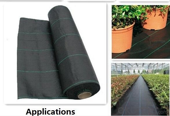 Anti Weed Barrier Fabric/Mat Woven Geotextile