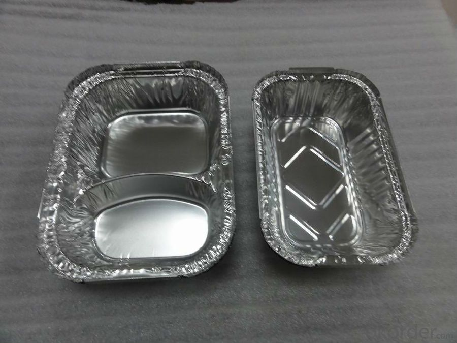 Rectangle Aluminium Foil Container For Fast Food Packaing
