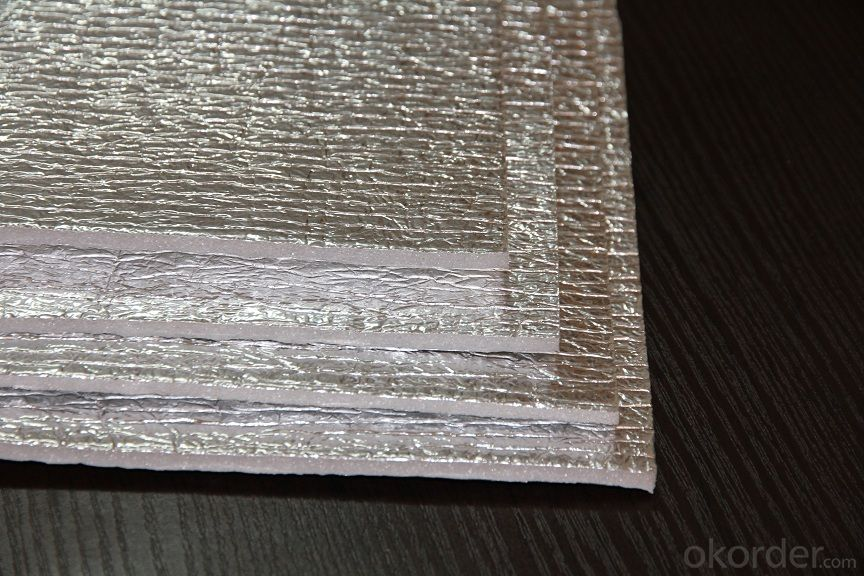 Real Aluminium Foil Embossed One Layer Anti Fire Bubble Foam Insulation