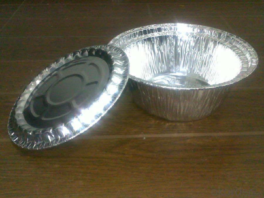 Round Aluminium Foil Container For Food And Fruit Packaing