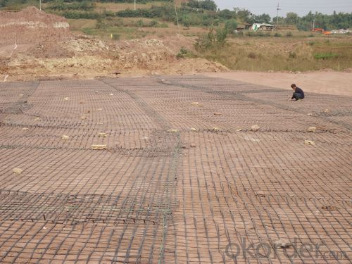 PP Biaxial Geogrid for Road Construction 15KN-50KN