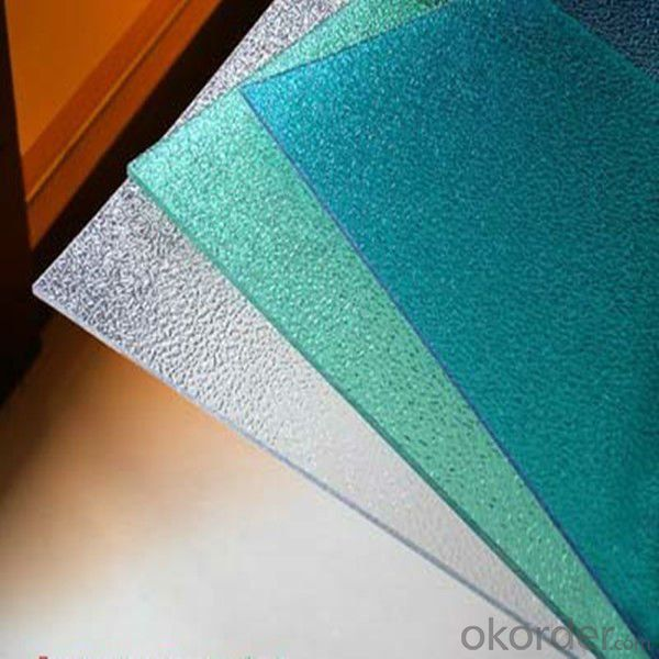 100% Virgin material colored polycarbonate embossed sheet