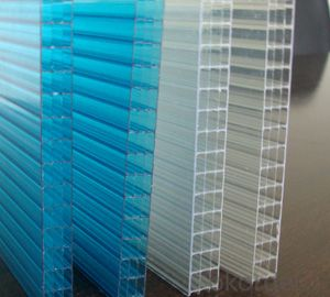 High quality colored four-wall polycarbonate hollow sheet