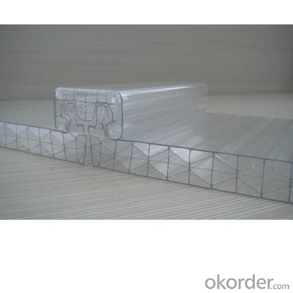 100% vrgin lexan material U-lock PC hollow sheet