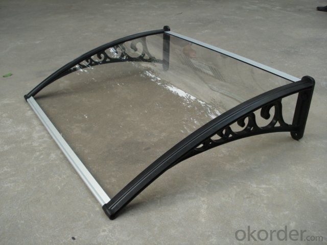 DIY UV protective Polycarbonate Awning for door or window