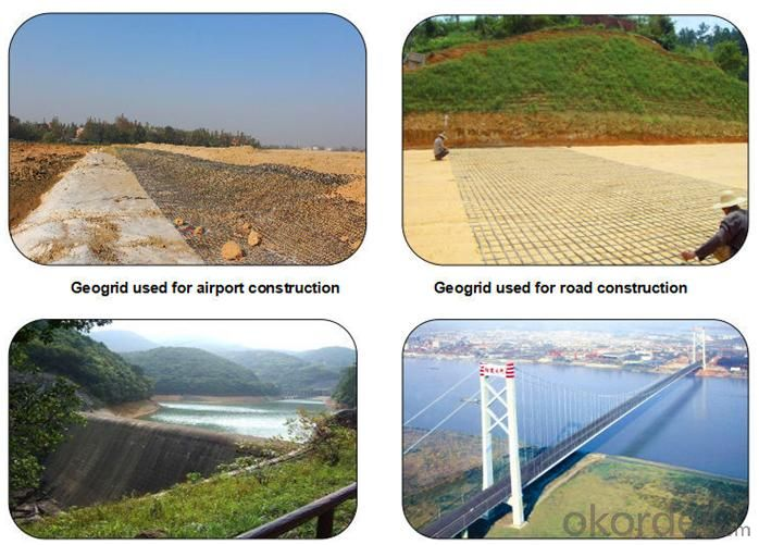 PP HDPE Uniaxial Geogrid Reinforcement with CE