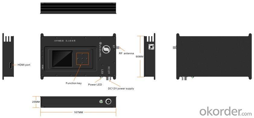 HD Wireless COFDM Video Transmitter 1080P for UAV Use