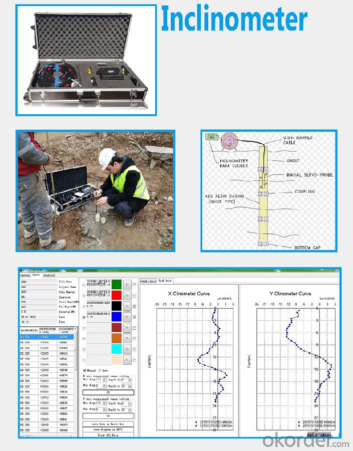 High accuracy two axis geotechnical inclinometer for borehole monitoring