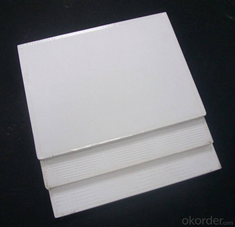 PVC facing and aluminum foil backing gypsum ceiling