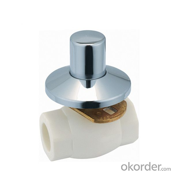 F6 type PPR single female threaded concealed ball valve with brass ball