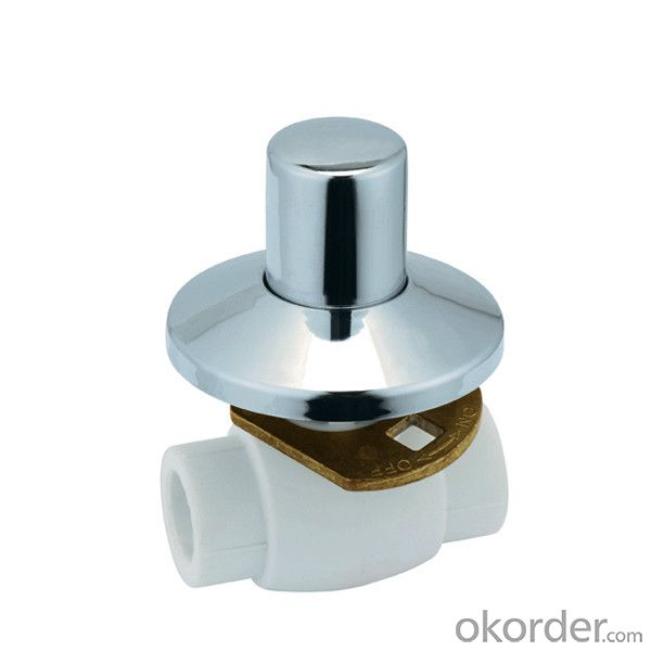 B6 Type PPR concealed installation ball valve with brass ball