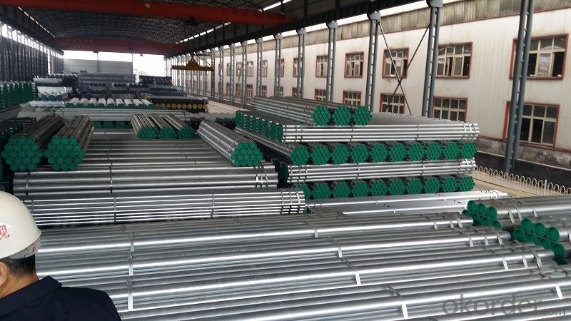 Galvanized welded steel pipe for metallurgical machinery