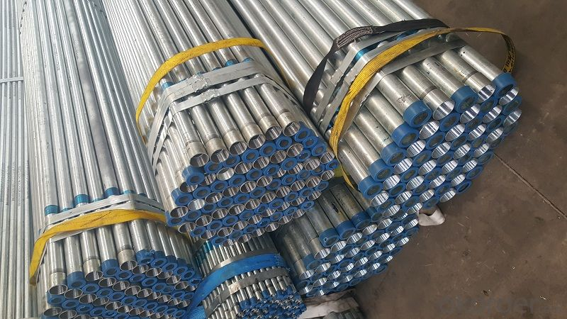 Galvanized welded steel pipe for structure