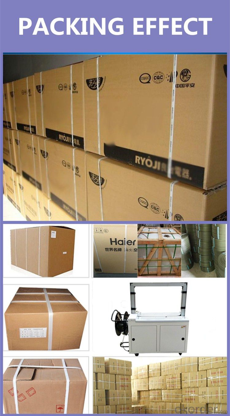 2016 fully automatic electric carton box pp belt bundle strapping machine
