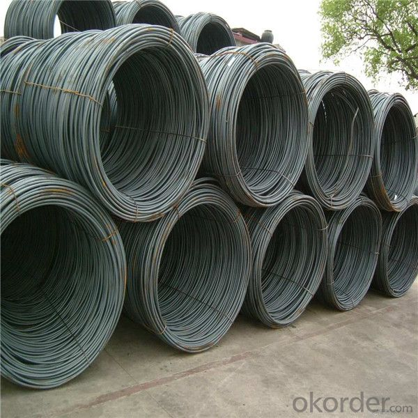 Hot dip steel wire rod in different grade and size