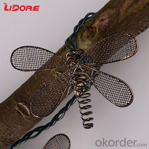 LED Butterfly Dragonfly String Waterproof Yard Garden Fairy Light