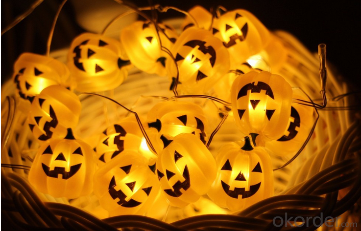 Pumpkin Light String Party Decoration Led  String  Light  UL Listed