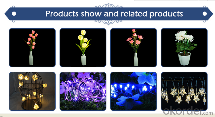 Rose LED Lights String LED Battery Operated Romantic Flower Lighting