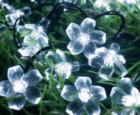 New LED Blue Sakura Solar String Lights Garden Party Christmas Outdoor