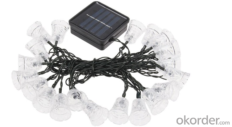 Home Decoration Led Solar belling String Light Patio Garden Decorated Lamp Color Charging
