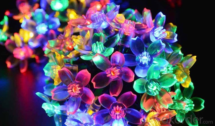 New LED White Sakura Solar String Lights Garden Party Christmas Outdoor
