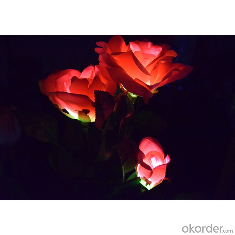White  Rose Solar String Light  Outdoor Led Solar Rose Light Garden Christmas Decoration Light