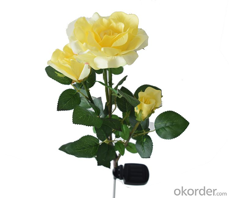 Yellow Rose Solar String Light  Outdoor Led Solar Rose Light Garden Christmas Decoration Light