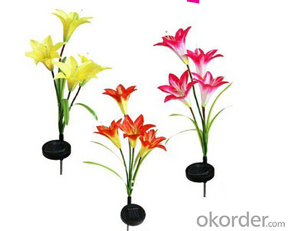 Unique Solar Lily Light Lily Solar LED Flower Light for Garden Decoration