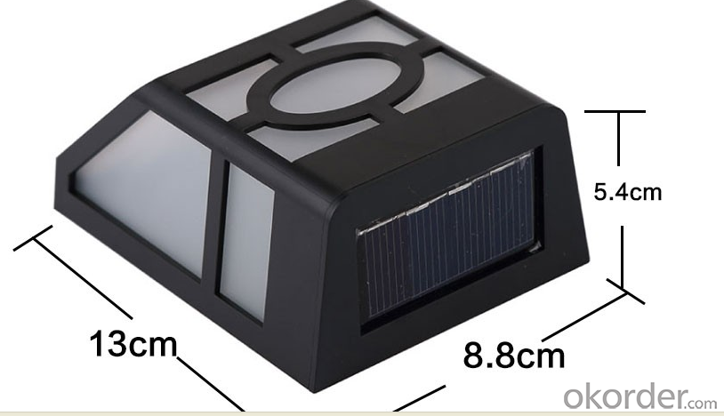 ABS plastic Solar Powered Light for Garden Fence Wall Step Decoration Lamps