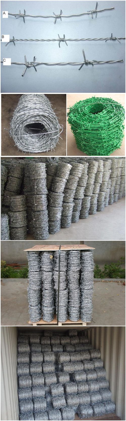 China Manufacturer of Galvanized Barbed Wire