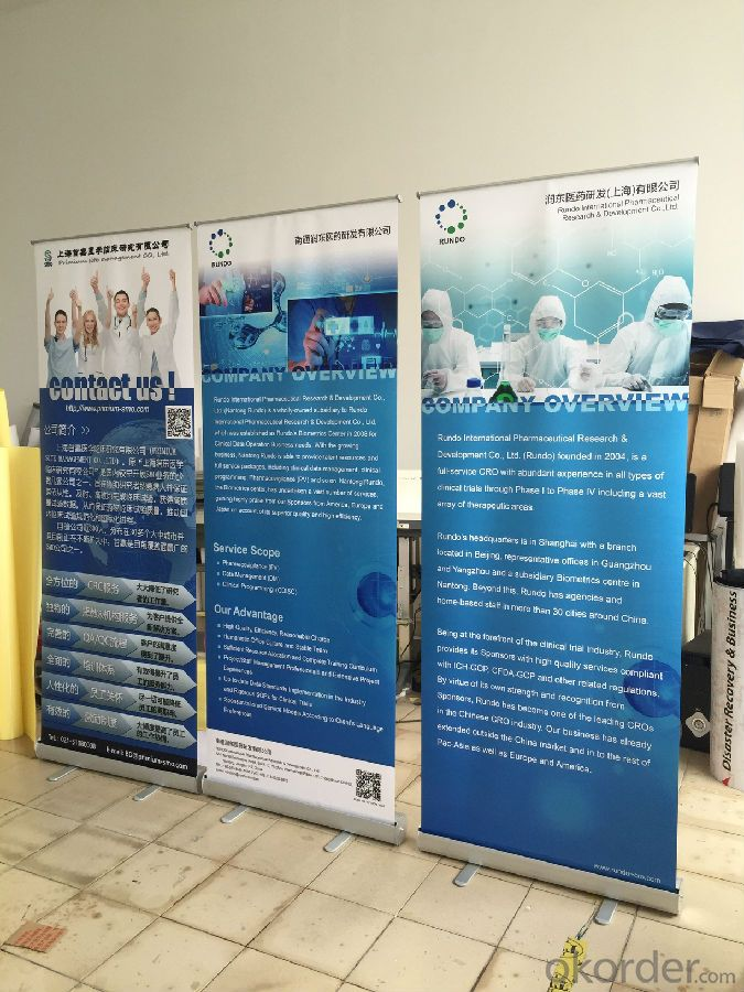 BST1-3 80*200CM roll up banner stand /pull up banner stand /roll up display stand