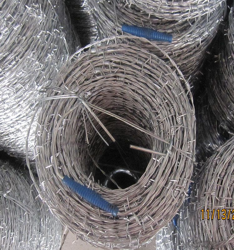 Galvanized Barbed Wire in 1.6mm to 2.7mm for Security Fence