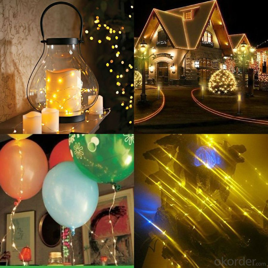 Small Bell Solar Light String 200X15cm 5 Meters 20 Lights for Christmas and Party Decoration.