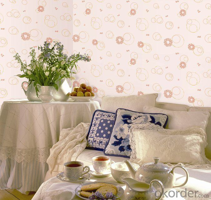 Flower Decorative Wallpaper For room Decoration Made In China