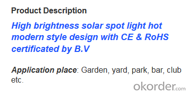 Garden Lighting Solar Power Top Quality Top Selling Good Design