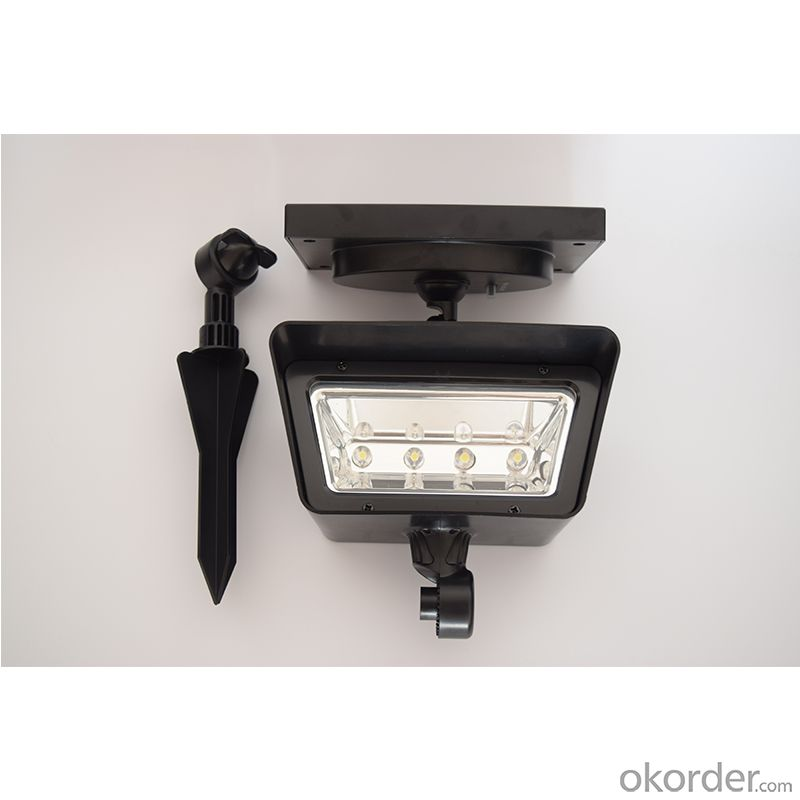 4LEDs Super Bright ABS Solar Spot Light Outdoor Spot Light