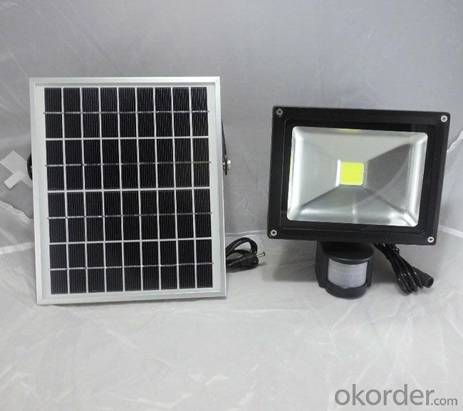 60LED 500LM Solar Powered Flood Sensor Light for Garden