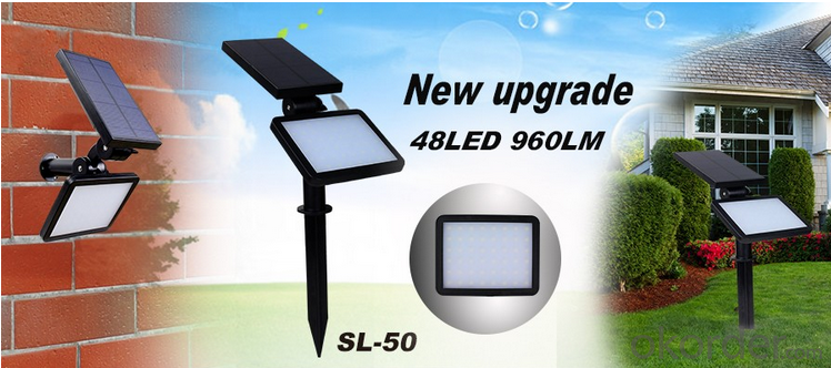 60 LED Good Quality Solar Flood Light Solar Motion Sensor Led Solar Garden Light