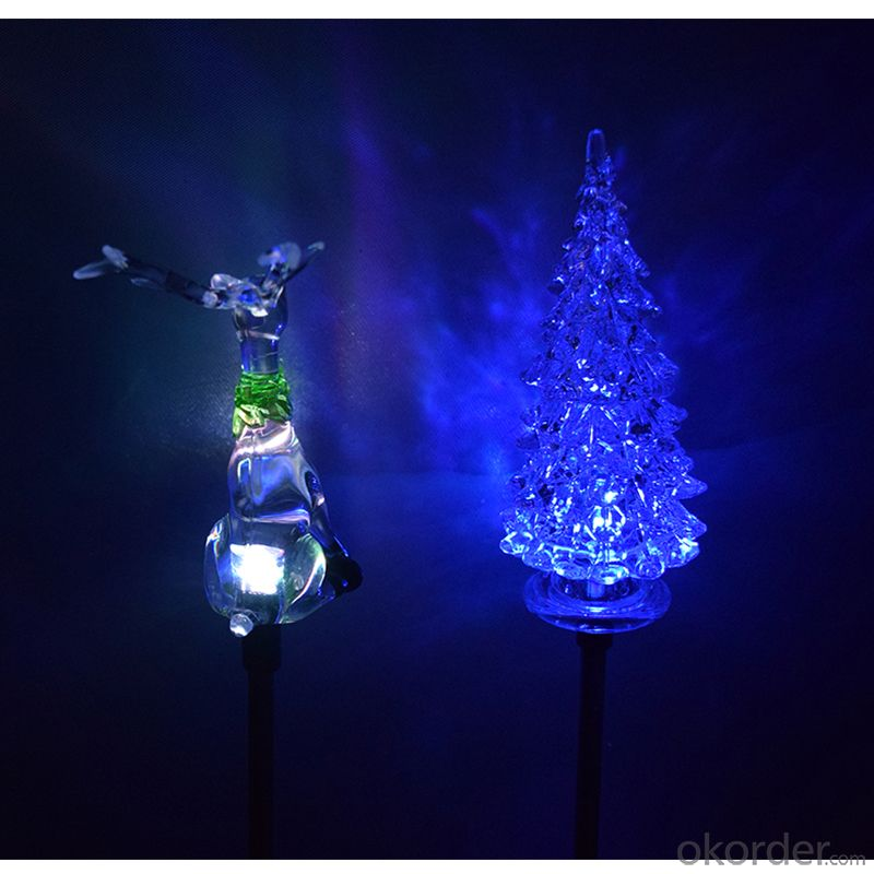 Special Designed Led Solar Garden Christmas Decorative Snowman Light Solar Skiing Kid