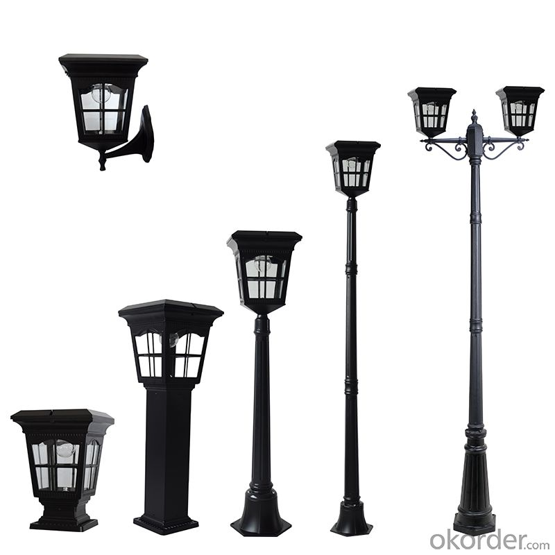 High Brightness Solar Lamp Post Light and LED Solar Bollard